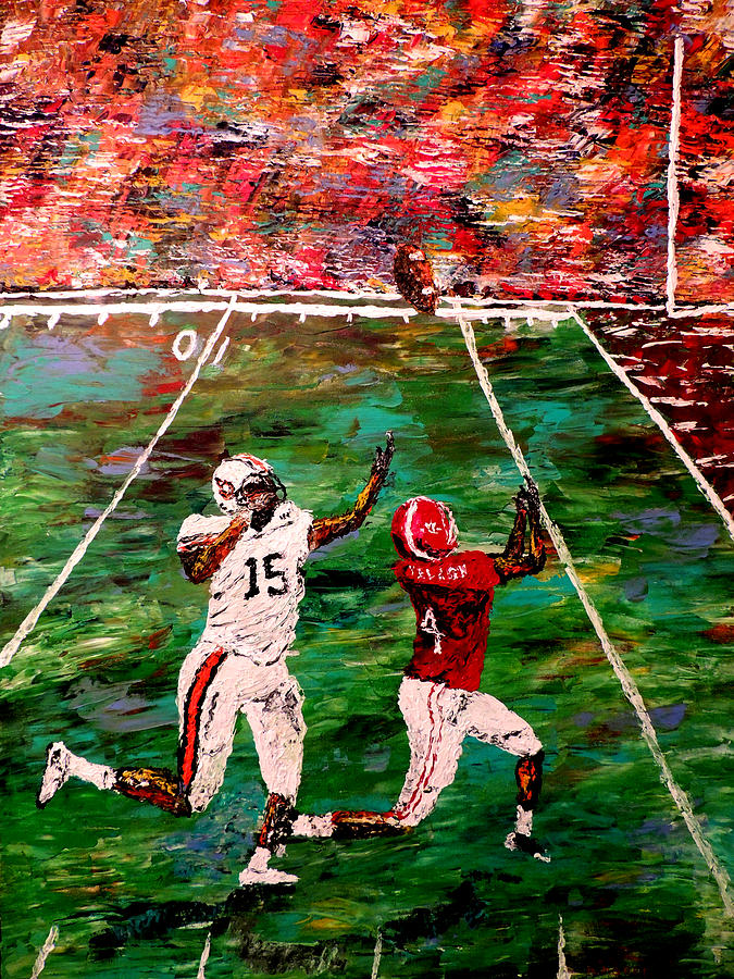 Alabama Painting - The Longest Yard - Alabama Vs Auburn Football by Mark Moore