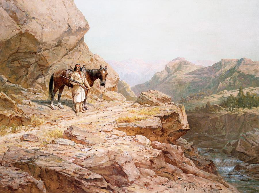 Horse Painting - The Look Out by Henry Raschen