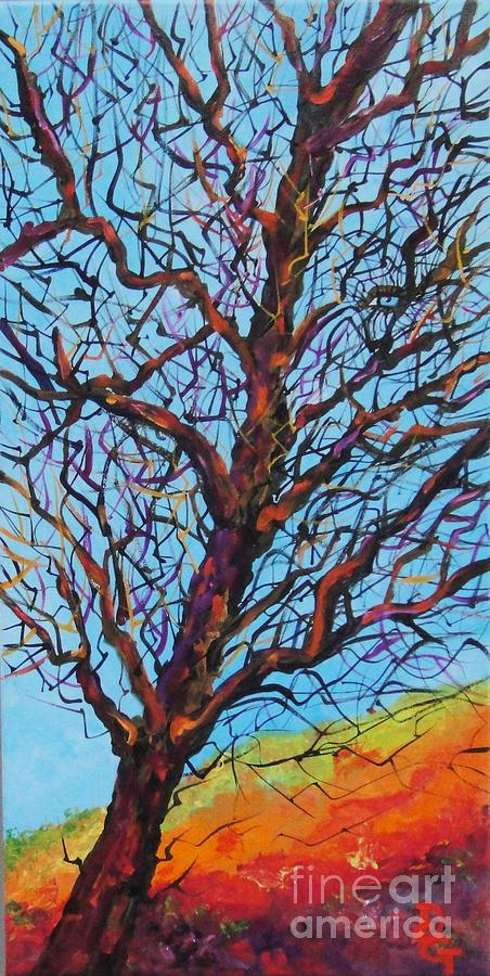 Looking Painting - The Looking Tree by Deborah Glasgow