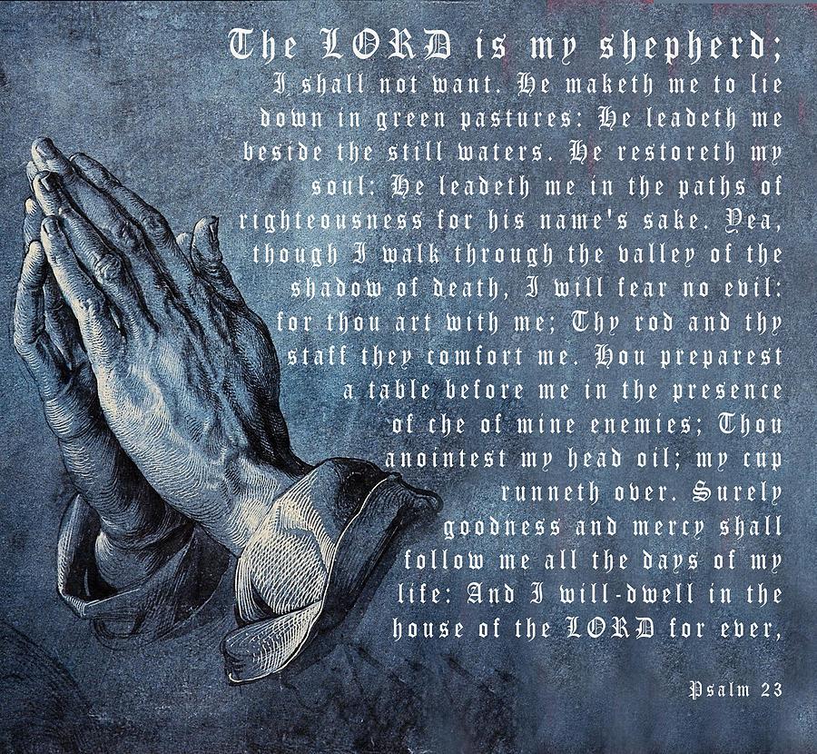 The Lord Is My Shepherd Digital Art - The Lord Is My Shepherd by Albrecht Durer