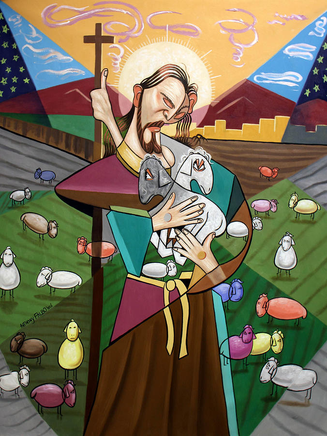 The Lord Is My Shepherd Painting - The Lord Is My Shepherd by Anthony Falbo