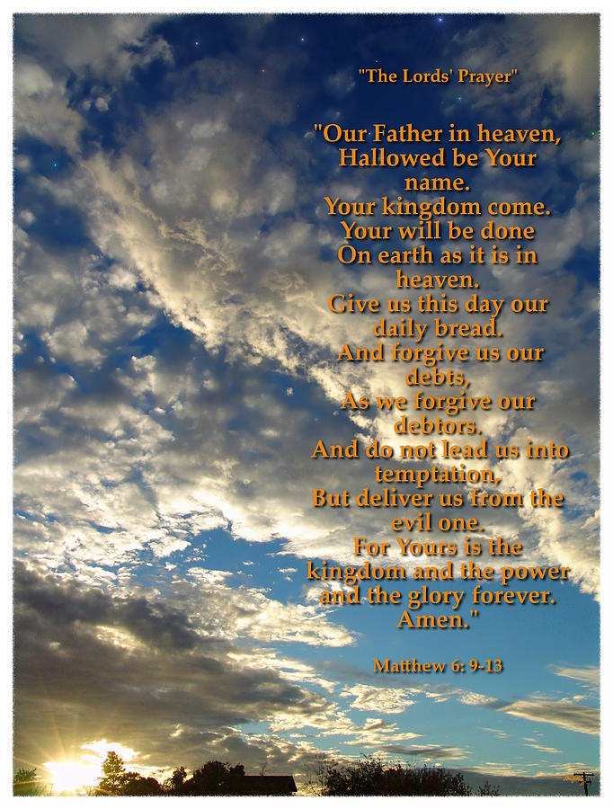 The Lords Prayer Photograph - The Lords Prayer by Glenn McCarthy Art and Photography