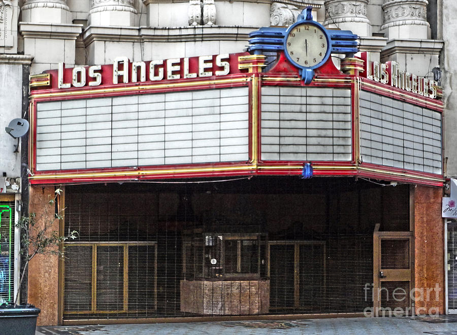Los Angeles Theater Photograph - The Los Angeles Theatre Marquee by Gregory Dyer