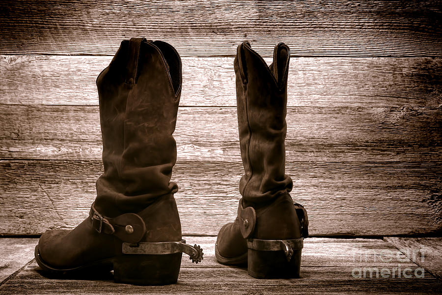 Western Photograph - The Lost Boots by Olivier Le Queinec