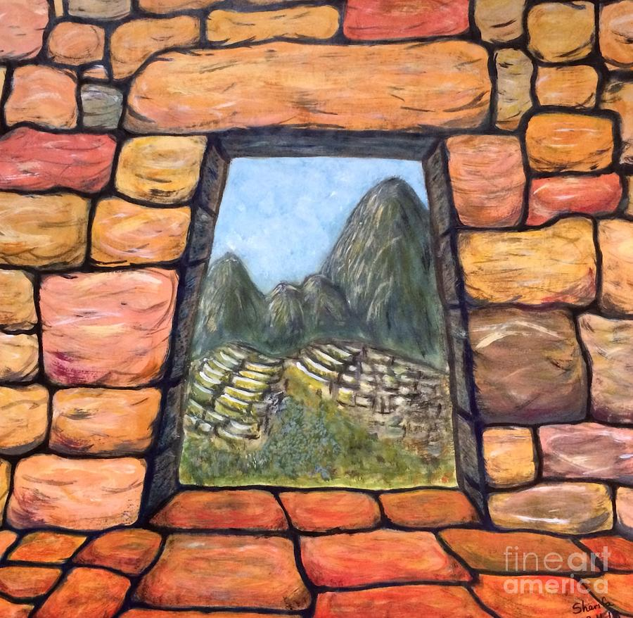 Incas Painting - The Lost City by Sara  Maria