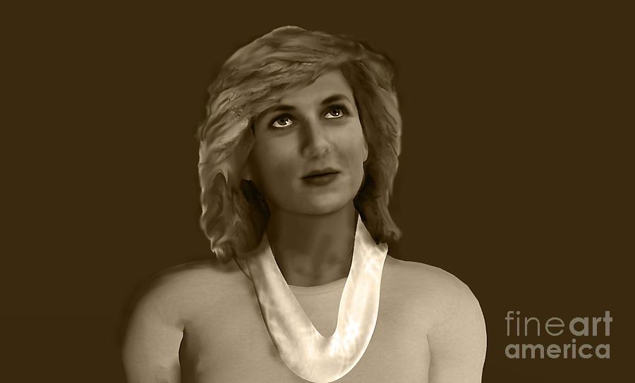 Princess Of Wales Digital Art - The Lost Princess by Syed Ghazanfar Ali Shah Bukhari