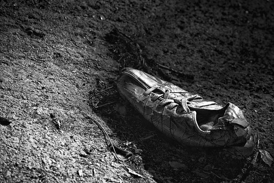 Shoe Photograph - The Lost Shoe by Jason Politte