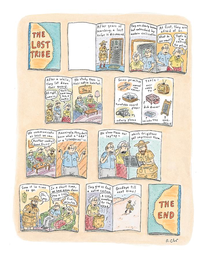 the Lost Tribe Drawing by Roz Chast