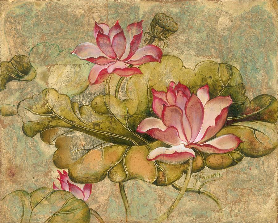Lotus Painting - The Lotus Family by Anna Ewa Miarczynska