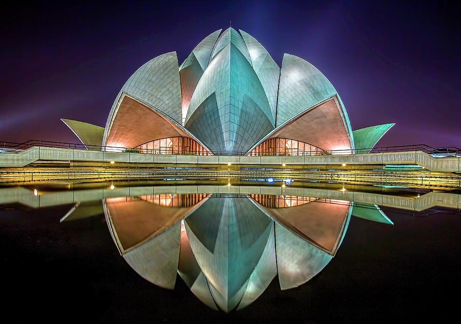 Delhi Photograph - The Lotus Temple by Jiti Chadha