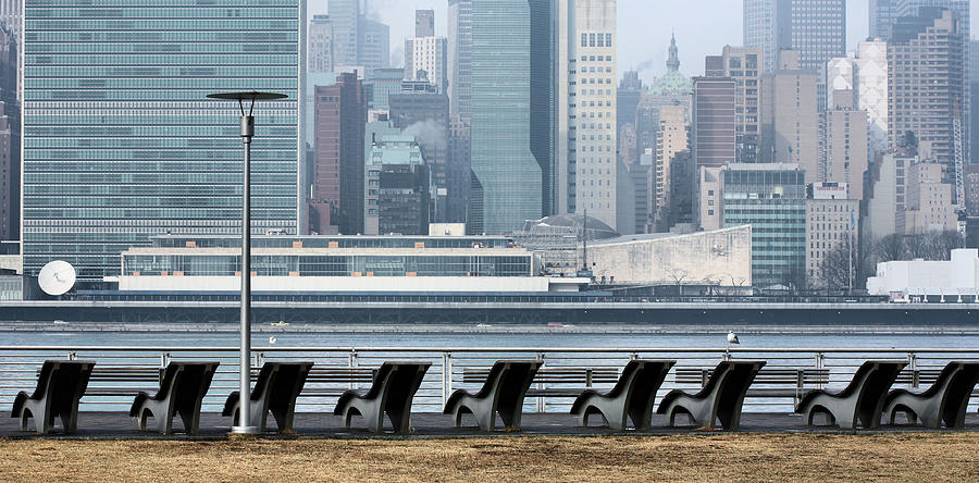 Gantry Plaza Photograph - The Lounge by JC Findley