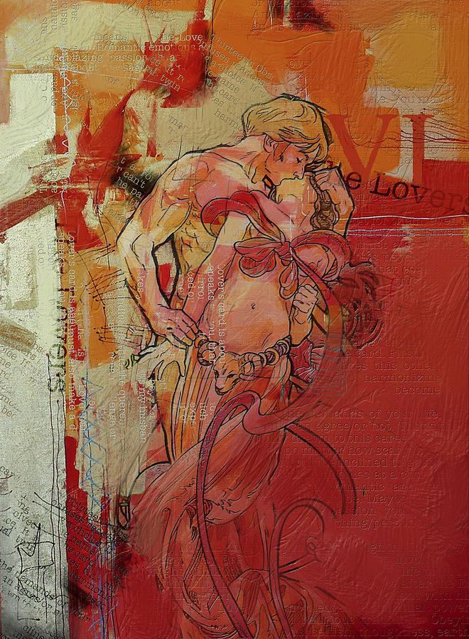 The Lovers Painting - The Lovers  by Corporate Art Task Force