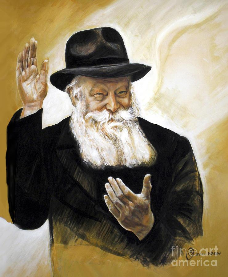 Rebbe Painting - The Lubavitcher Rebbe by Yael Avi-Yonah