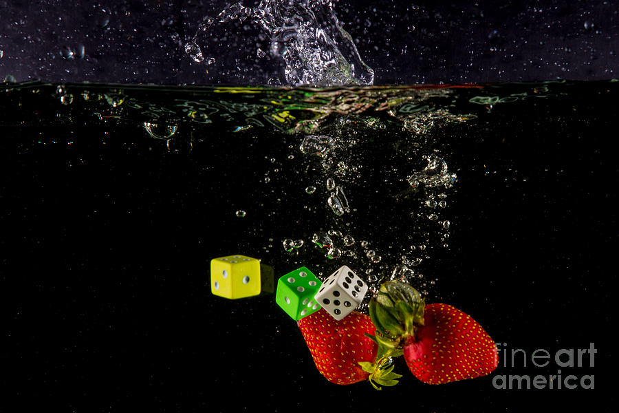 Dice Photograph - The Lucky 7 Splash by Rene Triay Photography