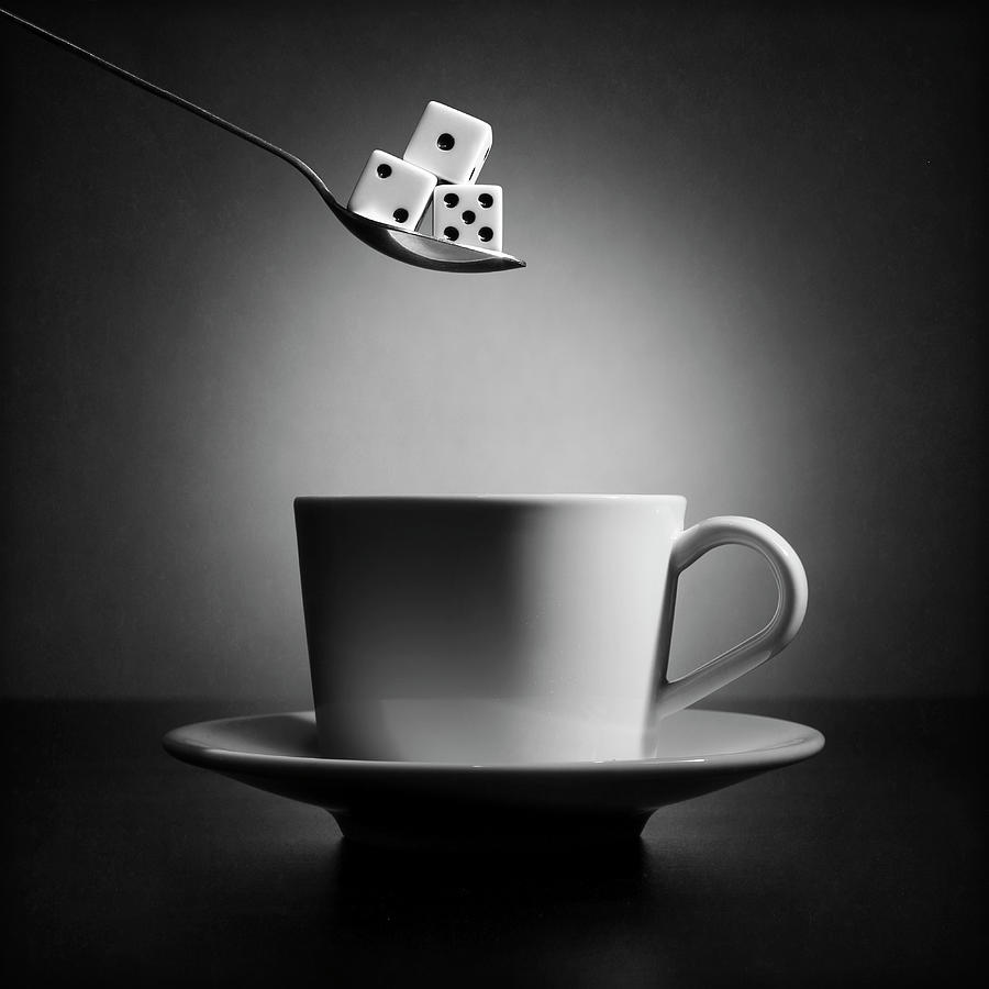 Cup Photograph - The Lucky Cup Of Coffee (version 2) by Victoria Ivanova