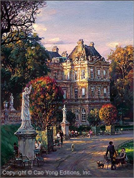 The Luxembourg Garden I Mediciss Palace Painting by Cao Yong