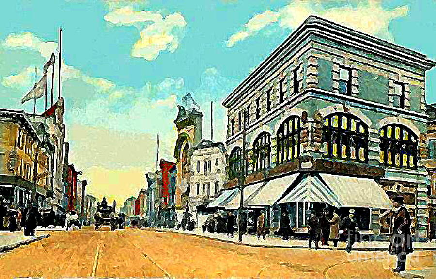 Jersey City Nj Painting - The Lyric Theatre In Jersey City N J Around 1910 by Dwight Goss