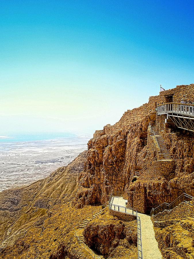 Plateau Photograph - The Machabees And Their Masada by Sandra Pena de Ortiz