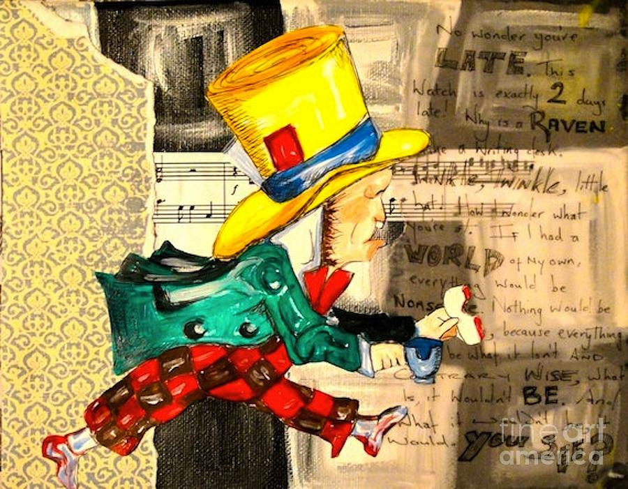 Mad Hatter Painting - The Mad Hatter by Sabrina Phillips