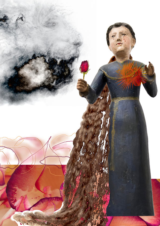 Woman Digital Art - The Maddening Wind by Maria Jesus Hernandez