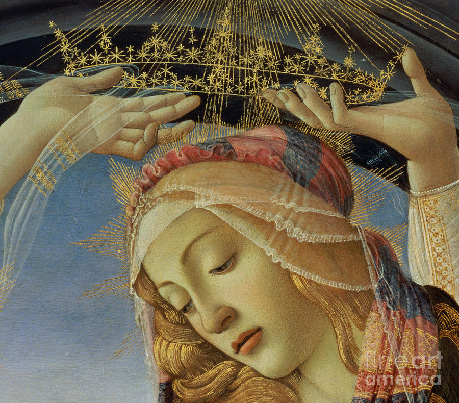 The Painting - The Madonna Of The Magnificat by Sandro Botticelli