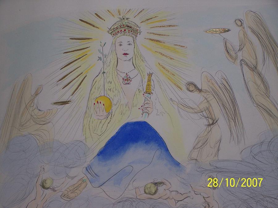 Dali Mixed Media - The Madonna by Salvador Dali