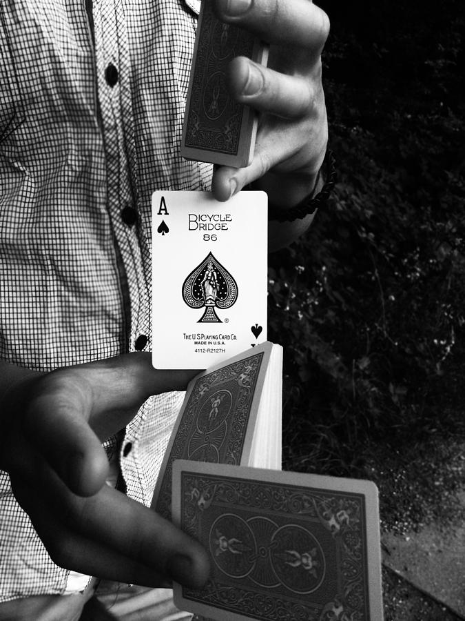 Magic Photograph - The Magic Card by Lucy D