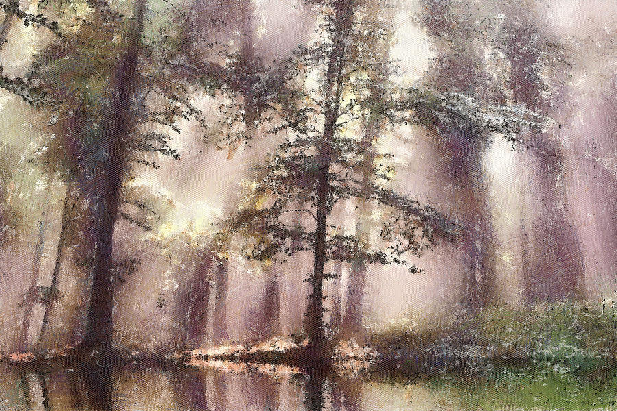 Forest Painting - The Magic Forest by Odon Czintos