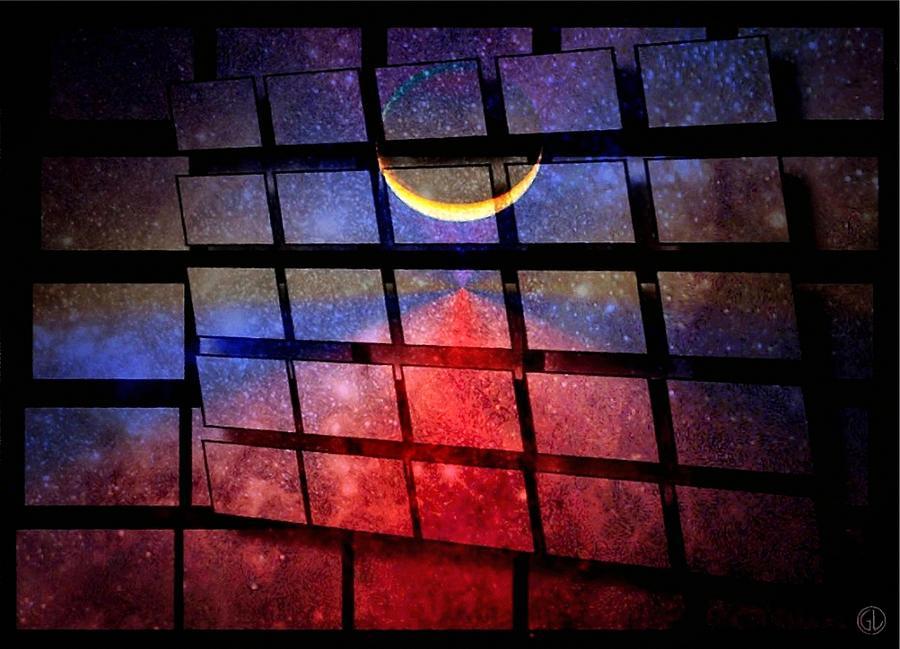 Abstract Digital Art - The Magic Window by Gun Legler