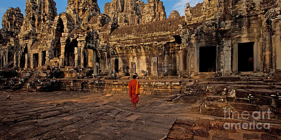 Angkor Wat Photograph - The Magical Light Of Bayon  by Pete Reynolds