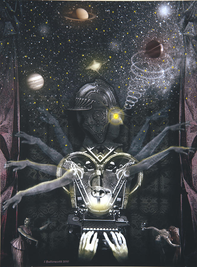 Steampunk Digital Art - The Magician by Larry Butterworth