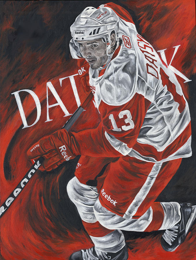 Pavel Datsyuk Detroit Red Wings Hockey Nhl Sports Art Sports Painting David Courson Autographed Painting  Painting - The Magician - Pavel Datsyuk by David Courson
