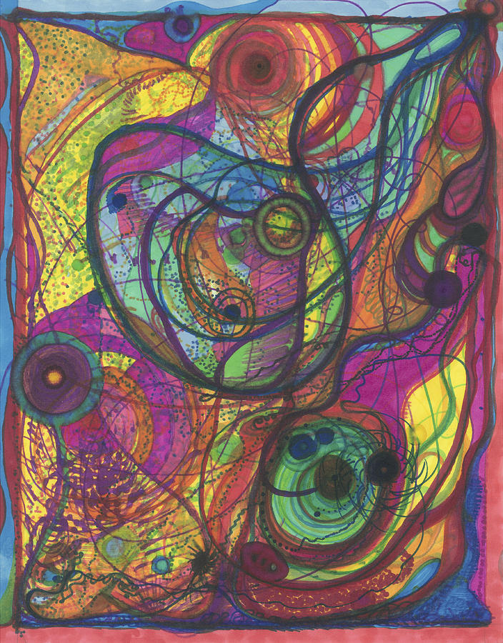 Marker Drawing - The Magnificence Of God by Daina White