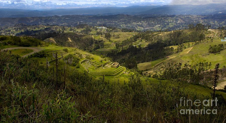 Green Photograph - The Magnificent View From Cojitambo by Al Bourassa