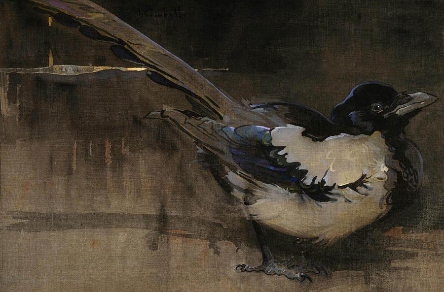 Bird Painting - The Magpie by Joseph Crawhall
