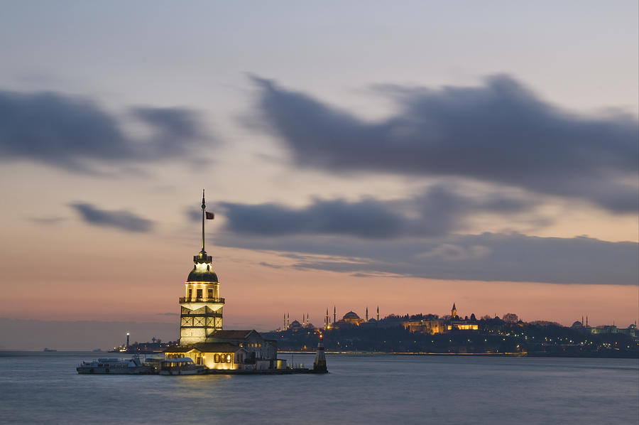 Turkey Photograph - The Maidens Tower  by Ayhan Altun