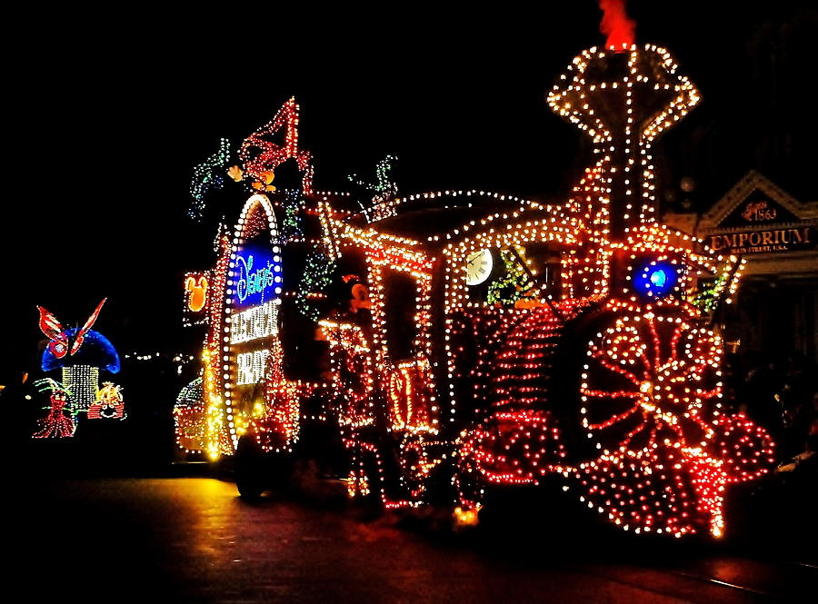 Disney Photograph - The Main Street Electrical Parade by Benjamin Yeager