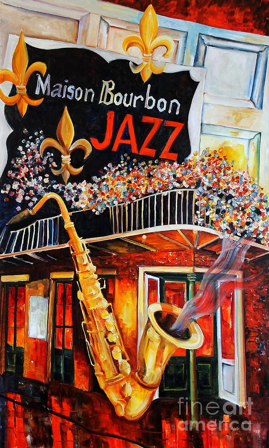 New Orleans Painting - The Maison Bourbon New Orleans by Diane Millsap