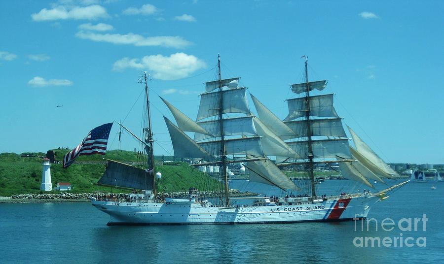 Boat Photograph - The Majestic Us Coast Guard by John Malone