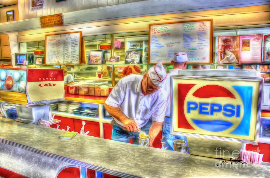 Retro Photograph - The Malt Shoppe by Dan Stone