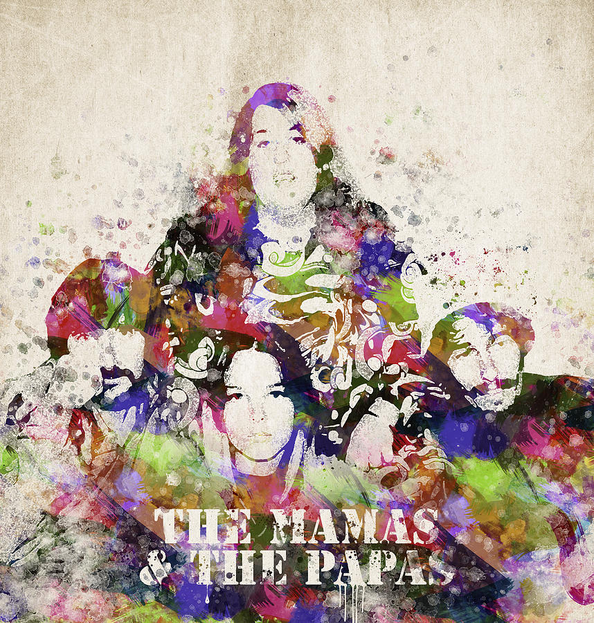 Mamas And Papas Digital Art - The Mamas And The Papas by Aged Pixel