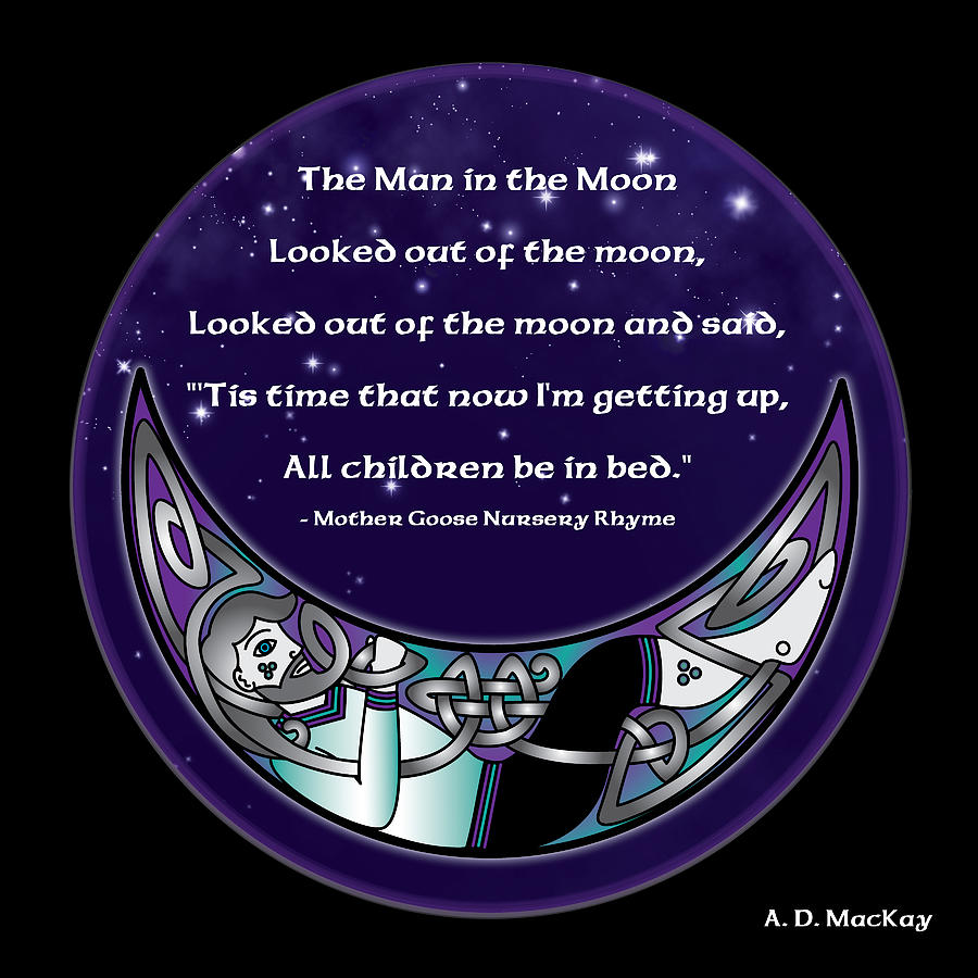 The Man in the Moon by Celtic Artist Angela Dawn MacKay