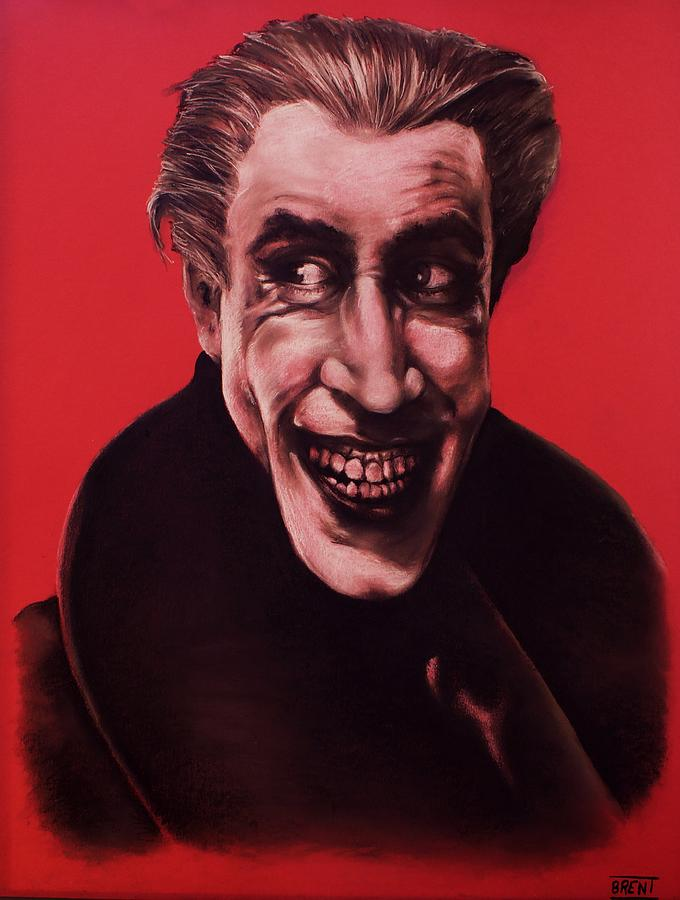 Conrad Veidt Pastel - The Man Who Laughs by Brent Andrew Doty
