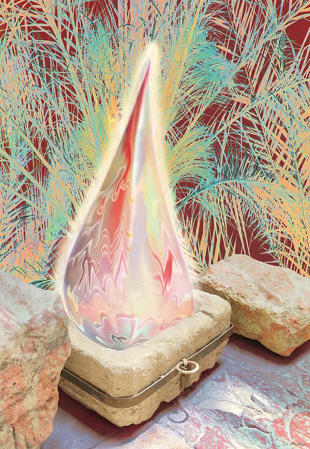 Manger Digital Art - The Manger Is Empty But The Light Still Shines by Jennifer Kathleen Phillips