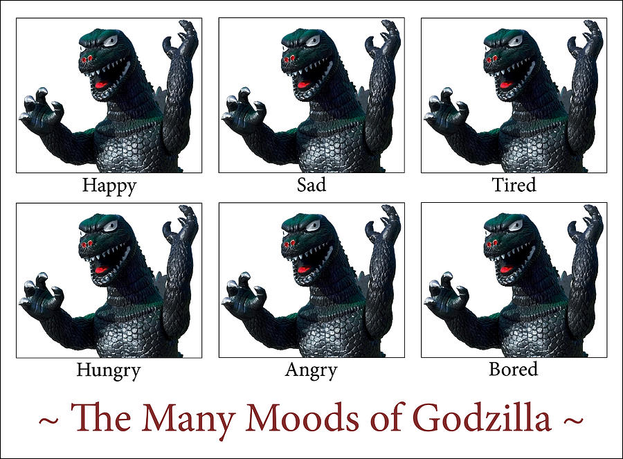 Godzilla Photograph - The Many Moods Of Godzilla by William Patrick
