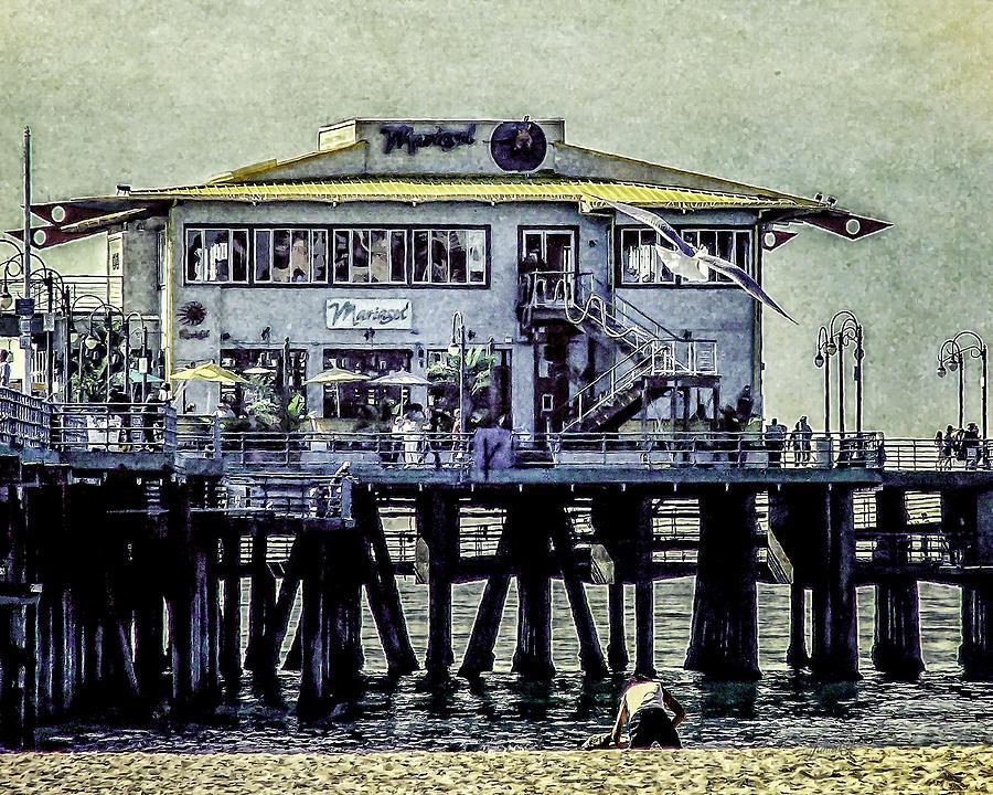 Ocean Digital Art - The Mariasol Restaurant by Janice OConnor