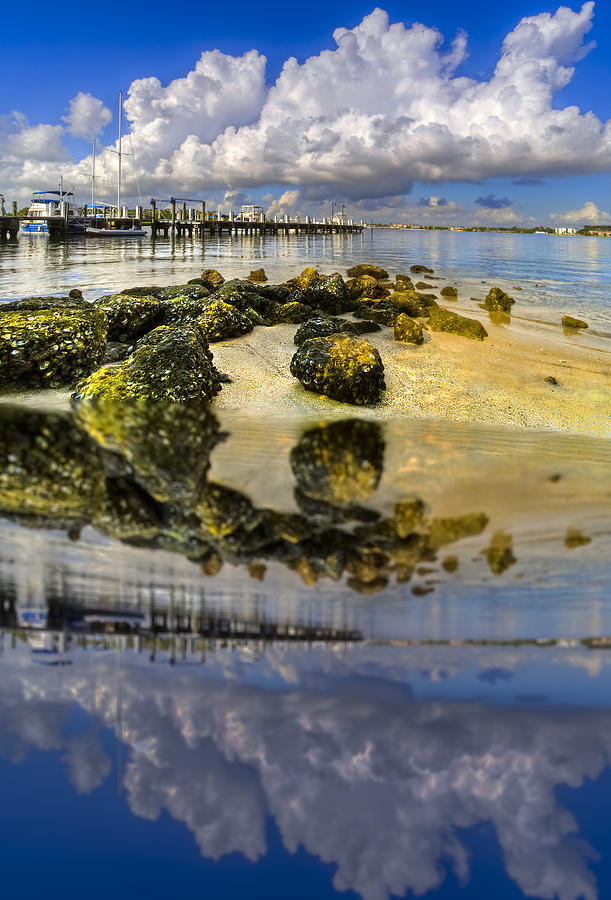 Clouds Photograph - The Marina At Boynton Inlet by Debra and Dave Vanderlaan