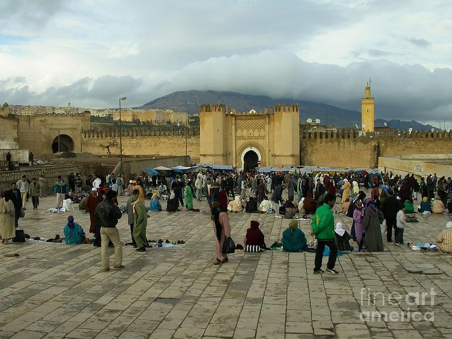 Market Photograph - The Market In Fez by Sophie Vigneault