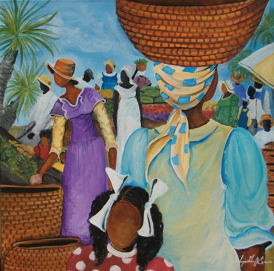 Southern Painting - The Market Place by Sonja Griffin Evans