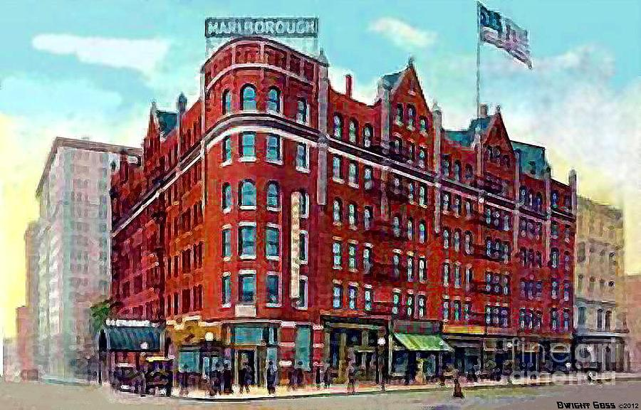 Hotels Painting - The Marlborough Hotel In New York City In 1909 by Dwight Goss